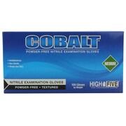 High Five Products Inc Nitrile Gloves, Medium, Cobalt, 100/Pack