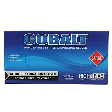 High Five Products Inc Nitrile Gloves, Cobalt Large 100/Pack (N193 PK)