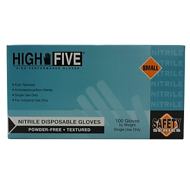 High Five Products Inc Industrial Nitrile Gloves, Small, 1000/Case