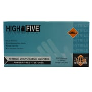 High Five Products Inc Industrial Nitrile Gloves, Small, 100/Pack