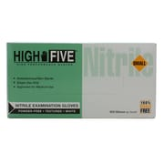 High Five Products Inc Nitrile Gloves, Small, White, 100/Pack