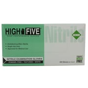 High Five Products Inc Nitrile Gloves, Medium, White, 100/Pack