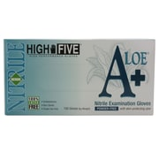 High Five Products Inc A+ Aloe Nitrile Gloves, Medium, 10/Pack