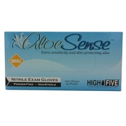 High Five Products Inc Aloe Nitrile Gloves, Blue Green, Small, 1000/Case