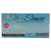 High Five Products Inc Aloe Nitrile Gloves, Large, 100/Pack