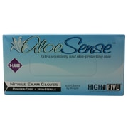 High Five Products Inc Nitrile Gloves, XL, Aloe, 100/Pack