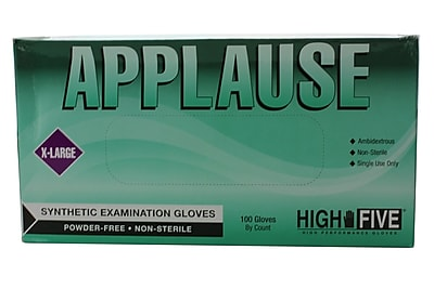 High Five Products Inc Synthetic Gloves, XL, 100/Pack