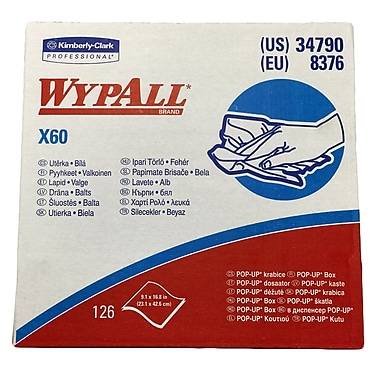 Kimberly-Clark WYPALL X60 Teri Reinforced Wiper, 1260/Case
