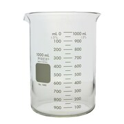 Pyrex Low Form Griffin Beaker, Double Scale, Graduated, 1000ml