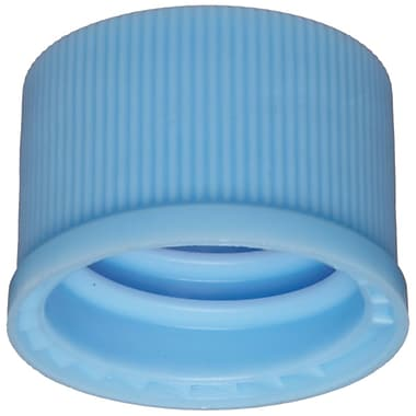 National Scientific Inc. 10-425mm Polypropylene Screw Cap, Light Blue, 100/Pack