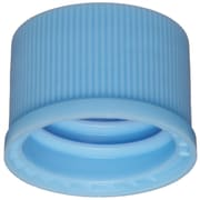 National Scientific Inc. 10-425mm Polypropylene Screw Cap, Light Blue, 100/Pack