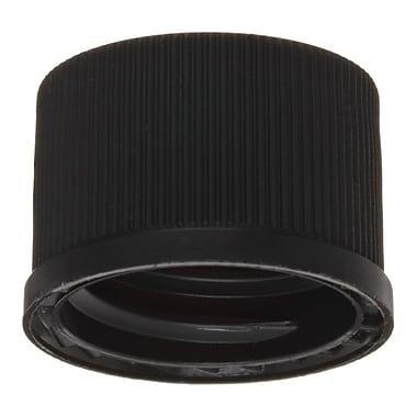 National Scientific Inc. Polypropylene Flangeless Cap, Black, 100/Pack