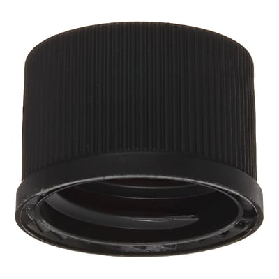 National Scientific Inc. Polypropylene Flangeless Cap, Black, 1000/Case