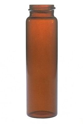 Kimble Chase LLC Screw Thread Sample Vial without Screw Cap, Brown, 12ml, 1000/Case
