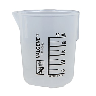Nalge Nunc International Corp Low Form Griffin Beaker, 50ml, 12/Pack