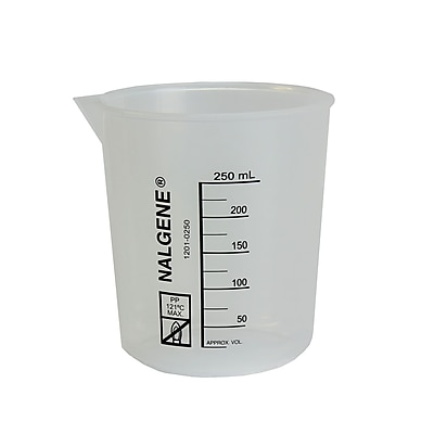 Nalge Nunc International Corp Low Form Griffin Beaker, 250ml, 6/Pack