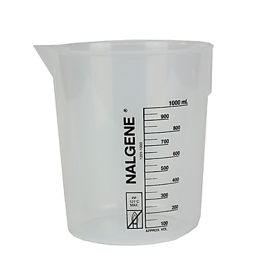 Nalgene™ Nunc International Corp Low Form Griffin Beaker, White, 1000ml, 3/Pack