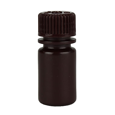 Nalge Nunc International Corp Lab Quality Amber Narrow Mouth Bottle, 15 ml, 72/Case