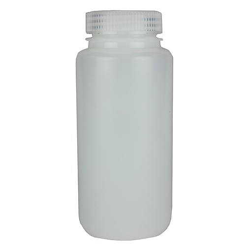 Nalge Nunc International Corp HDPE Lab Quality Wide Mouth Bottle, 500 ml, 48/Case