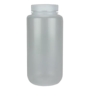 Nalge Nunc International Corp HDPE Lab Quality Wide Mouth Bottle, 1000 ml, 24/Case