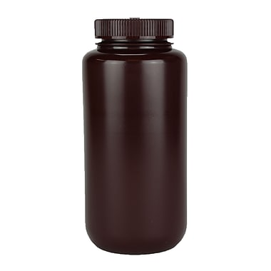Nalge Nunc International Corp Amber Wide Mouth Economy Bottle, 1000 ml, 24/Case