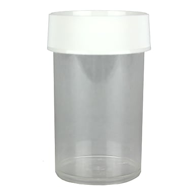 Nalgene PMP Straight-Sided Wide-Mouth Jar with Cap, 250 ml, 4/Pack