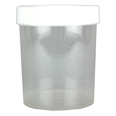 Nalge Nunc International Corp 1000 ml PMP Straight-Sided Wide-Mouth Jar with Cap, 4/Pack