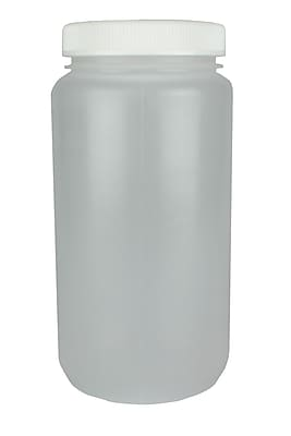 Nalge Nunc International Corp HDPE Large Wide Mouth Bottle, 4000 ml