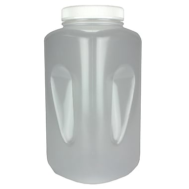 Nalge Nunc International Corp PPCO Large Wide Mouth Square Bottle, 4000 ml
