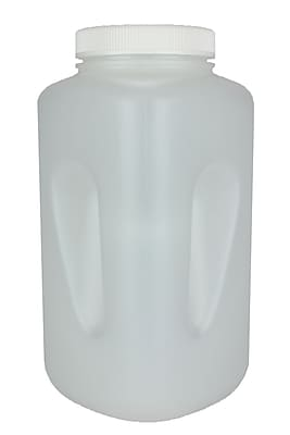 Nalge Nunc International Corp Large Wide Mouth Square Bottle, 4000 ml