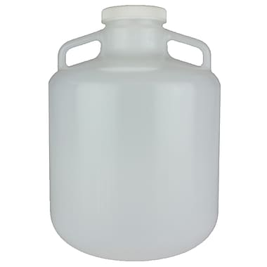 Nalge Nunc International Corp LDPE Wide Mouth Carboy with Cap, 15 l, 6/Case