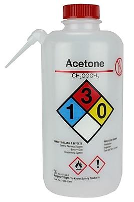 Nalgene Acetone Wash Bottle, 250 ml, 4/Pack