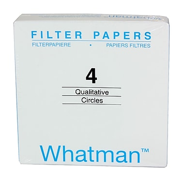 Whatman GE Healthcare Biosciences Filter Paper, Grade 4, 1.1
