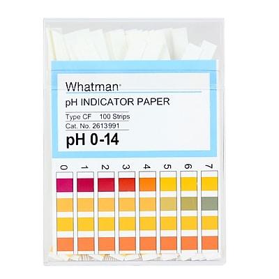 Whatman GE Healthcare Biosciences pH Indicator Paper, 0-14, 100/Pack