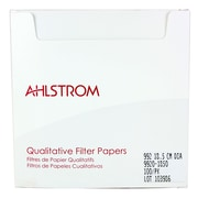 "Ahlstrom Filtration LLC Filter Paper, Grade 992, 7.28"", 100/Pack"
