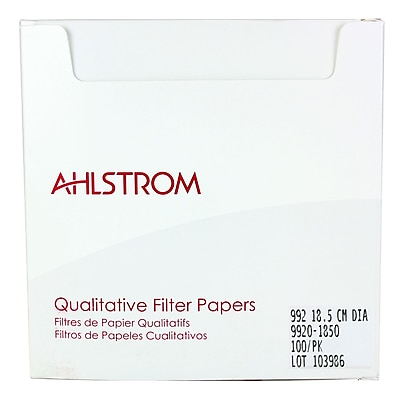 Ahlstrom Filtration LLC Filter Paper, Grade 992, 7.28