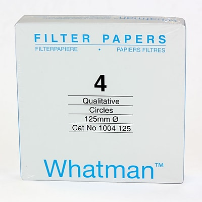 Whatman GE Healthcare Biosciences Filter Paper, Grade 4, 4.92