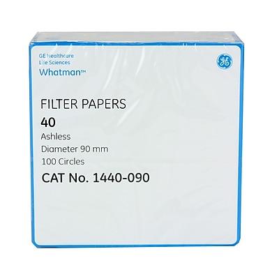 Whatman GE Healthcare Biosciences Filter Paper, Grade 40, 3.54
