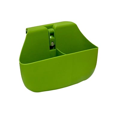 Wall Mates Push 'N Stay Divided Suction Sink Organizer; Green
