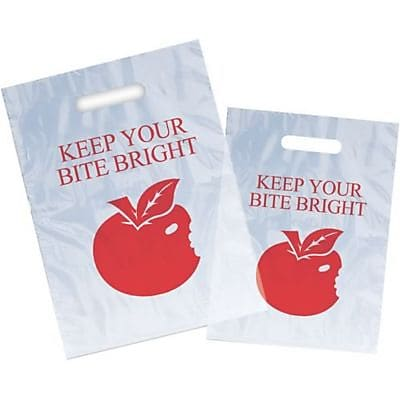 Dental Non-Personalized Small 1-Color Supply Bags, Keep Bite Bright