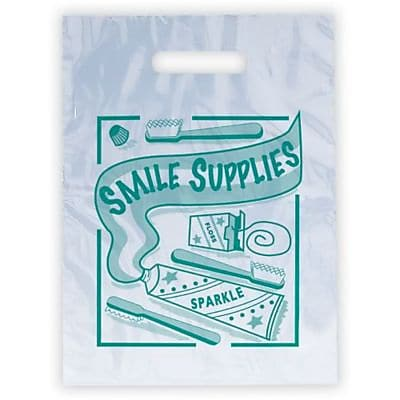 Dental Non-Personalized Small 1-Color Supply Bags, Smile Supply