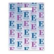 """Large Scatter-Print Supply Bags, Fuzzy """"E"""""""