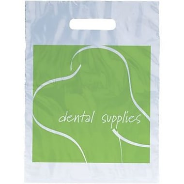 Dental Non-Personalized Small 1-Color Supply Bags, Green Tooth