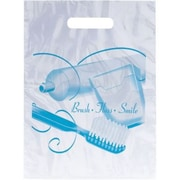 Dental Non-Personalized Large 1-Color Supply Bags, Brush Floss Smile
