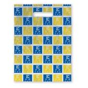 Large Scatter-Print Supply Bags, Blue and Yellow Eye Chart