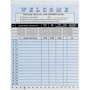 Medical Arts Press Privacy Sign-In Sheets, Blue