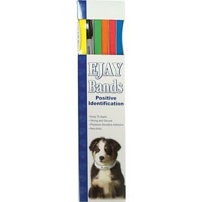 EJAY Animal I.D. Bands, Assorted Colors, 20