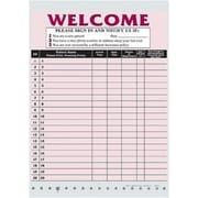 Medical Arts Press Privacy Sign-In Sheet, Burgundy