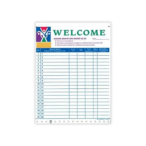 medical arts press privacy sign in sheet figure staples