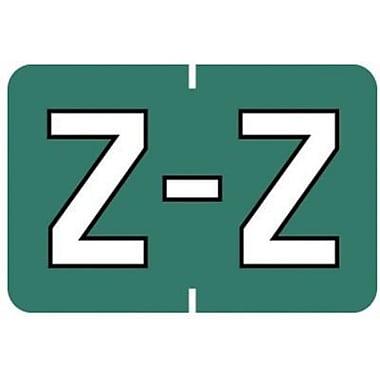 Medical Arts Press® Barkley & Sycom® Compatible Alpha Sheet Style Labels, Z